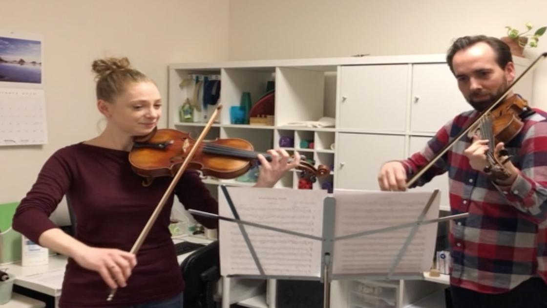 Hannah playing violin