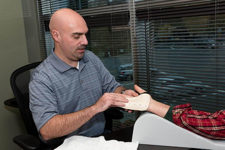 custom splint for hand injury