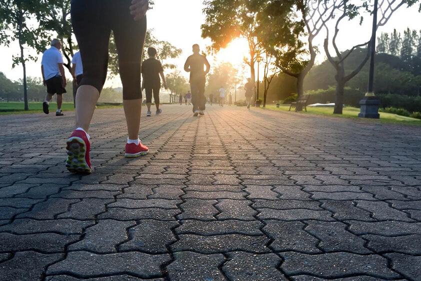 keep walking to stay healthy