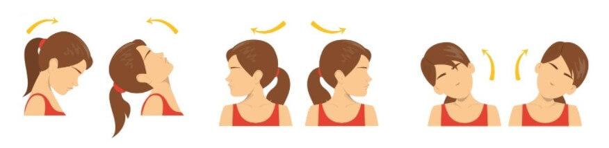 neck head rotations